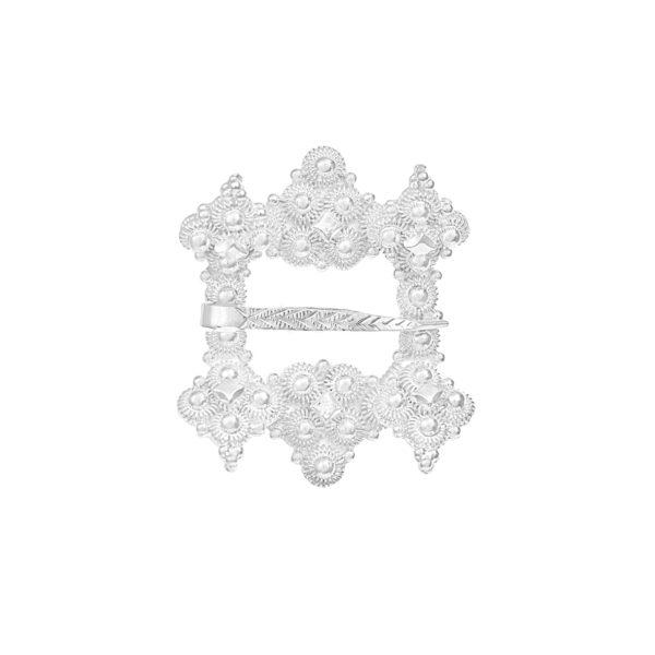 Liten Hornring i hvitt sølv