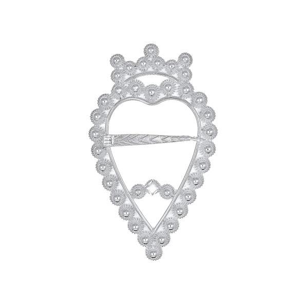 Hjertesprette filigran i hvitt sølv