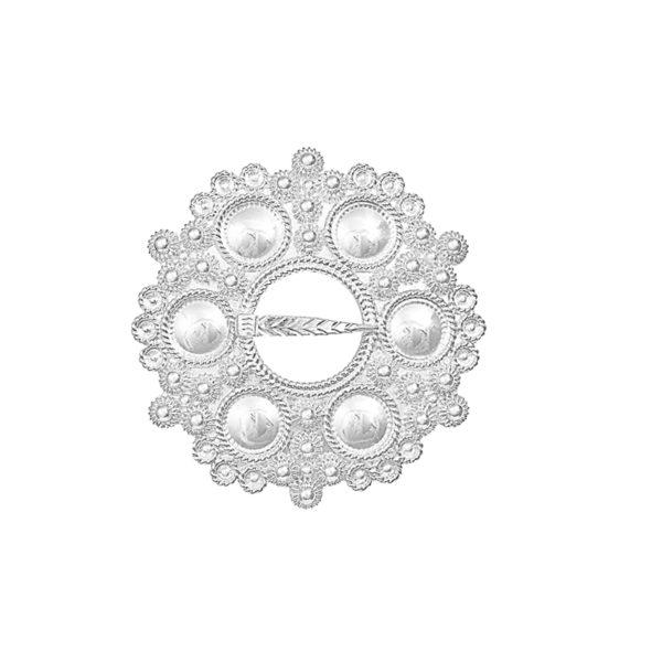 Halsring m/blanke knopper 2171