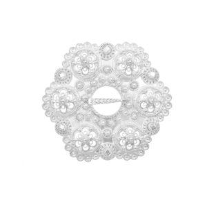 Liten Bolesølje i hvitt sølv