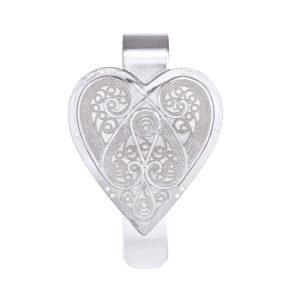 Lommekrok utformet som et hjerte