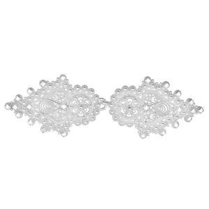 Beltespenne med krusekant i hvitt sølv