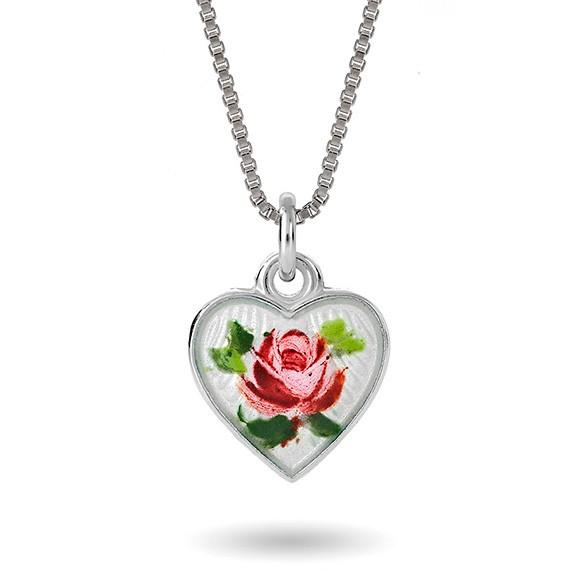 Hjerte malt rose, lite 110710