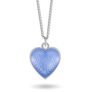 Lys blått hjerte, lite 11702