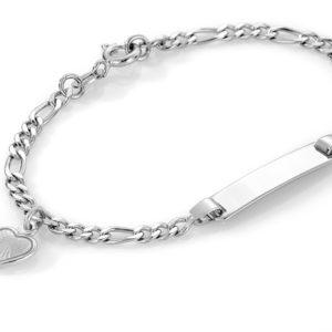 Hvitt hjerte armband - 222503