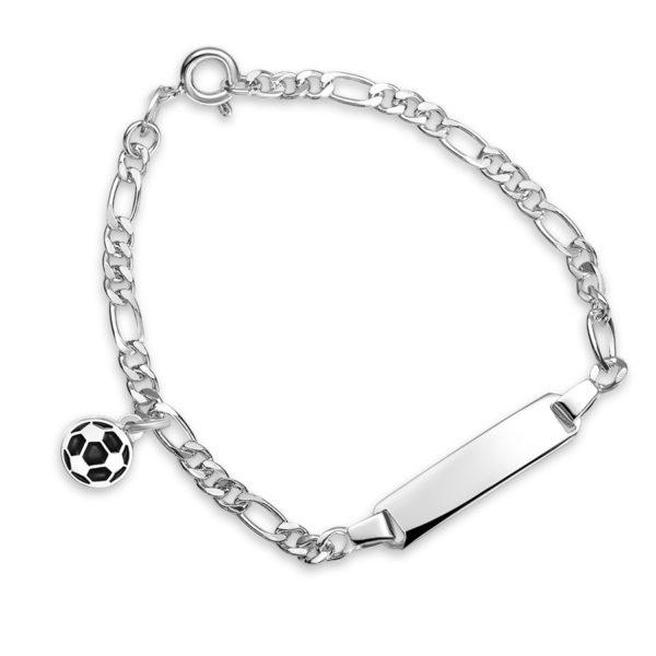 Sort fotball armband - 24906