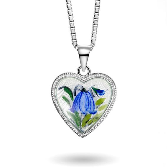 Hjerte malt blåklokke, stort 270720