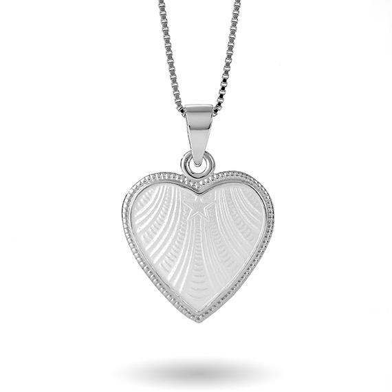 Hvitt hjerte, stort 271703