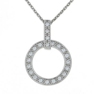 Alva kjede sølv sirkel 2901845