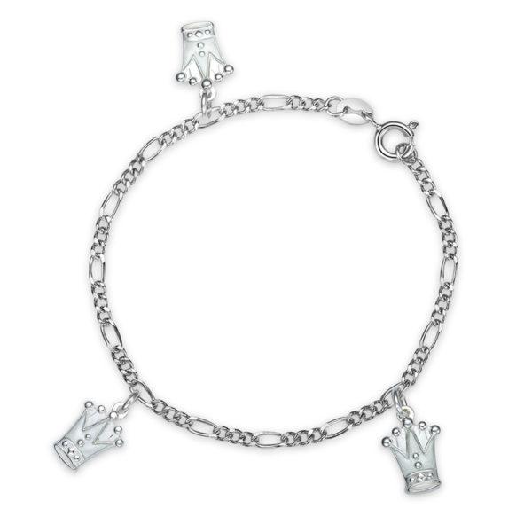 Hvit prinsessekrone armband - 42503