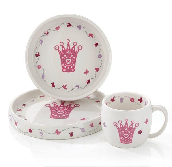 Servise- Rosa prinsessekrone 8076