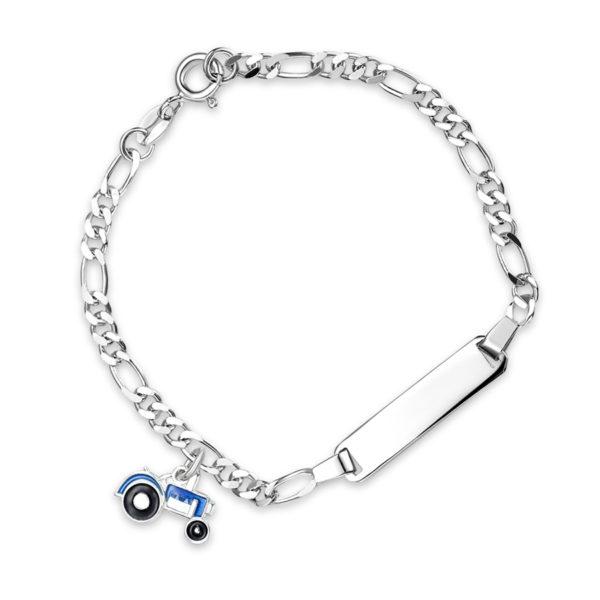 Blå traktor armband - 44502