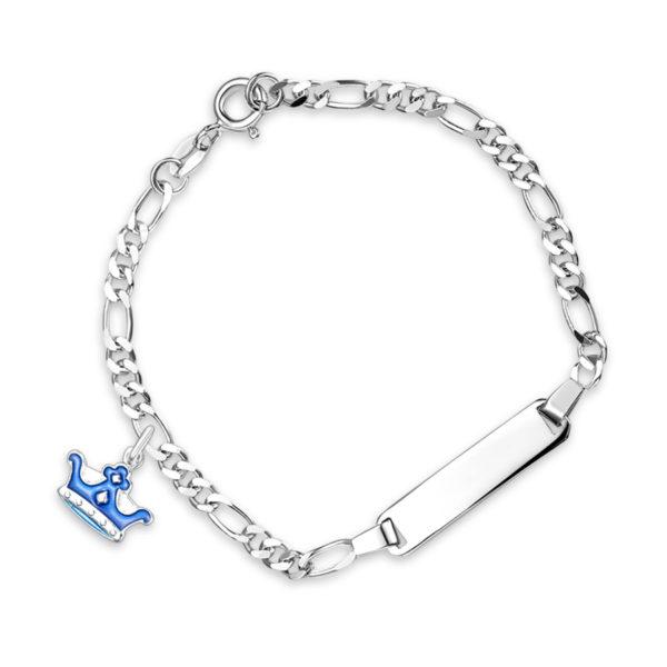 Blå prinsekrone armband - 45502