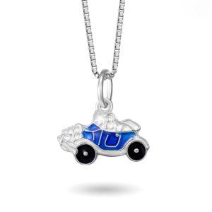 Blå bil- 25702