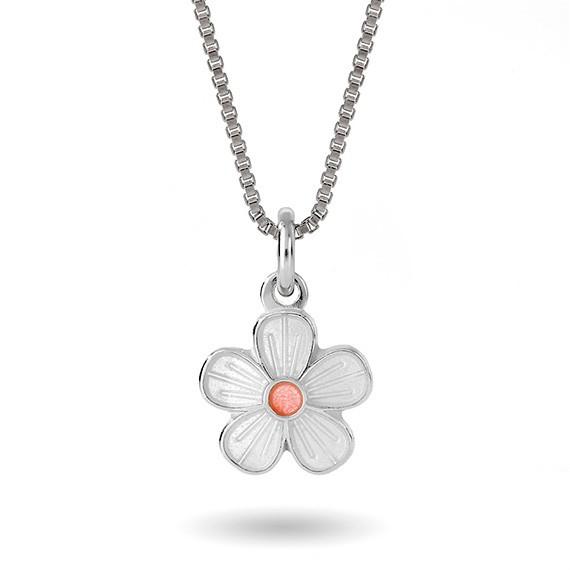 Hvit blomst- 90703