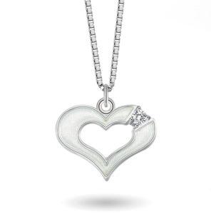 Hvitt hjerte- 770003