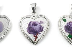 Hjerte malt rose 120710