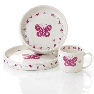 Servise- Rosa sommerfugl 8075