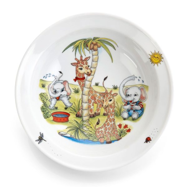 Dyp tallerken med dyremotiv