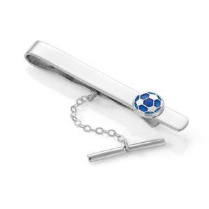 Blå fotball slipsnål - 24802
