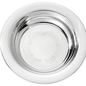Sølvskål m/ blomsterkrans 8062