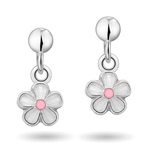 Hvite blomster øreheng 90000603