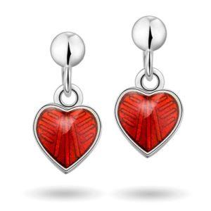 Rød hjerte øreheng 22000611