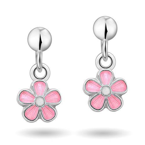 Rosa blomster øreheng 90000601