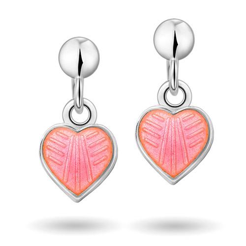 Rosa hjerte øreheng 22000601