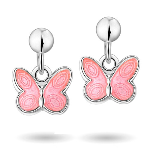 Rosa sommerfugler øreheng 32000601