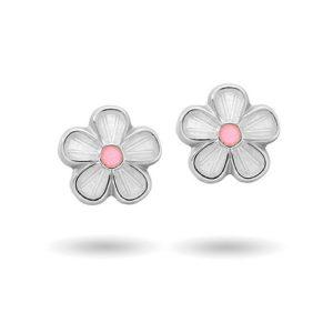 Hvite blomster ørestikk 9000603