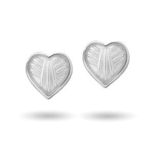 Hvit hjerte ørestikk 2200603