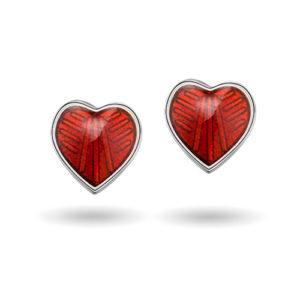 Rød hjerte ørestikk 2200611