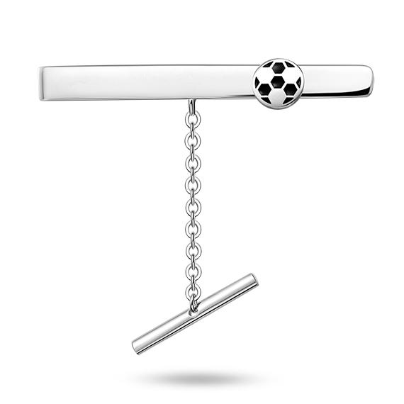 Sort fotball slipsnål - 24806