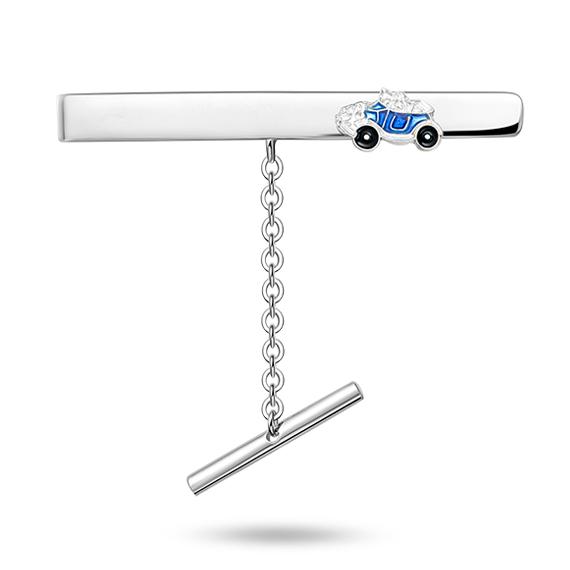 Blå bil slipsnål - 25802