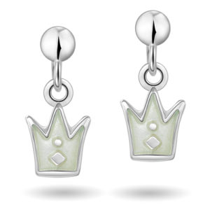 Hvit prinsessekrone øreheng 42000603