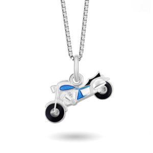 Blå Motorsykkel - 770512