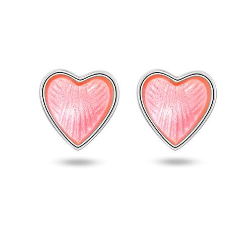 Rosa hjerte ørestikk 22601