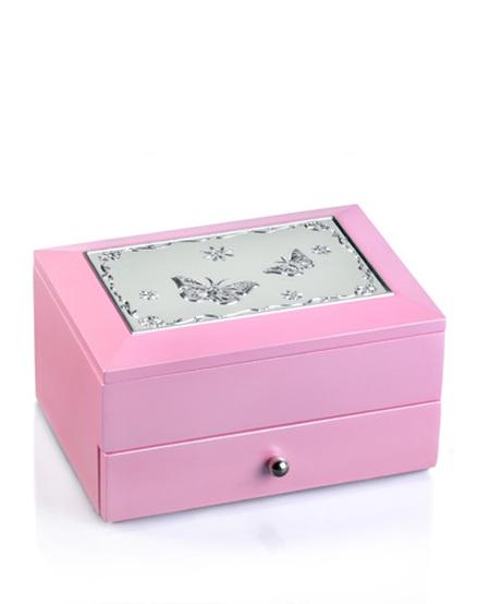 Smykkeskrin rosa m/sommerfugler 2323