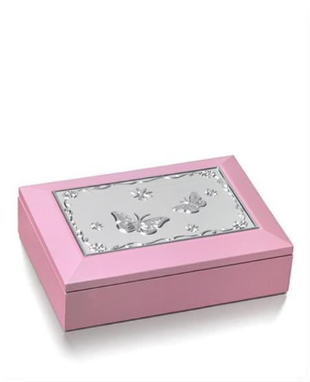 Smykkeskrin rosa m/sommerfugler 2326