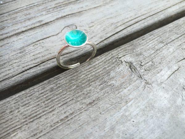Embla boble ring sjøgrønn- 1495b