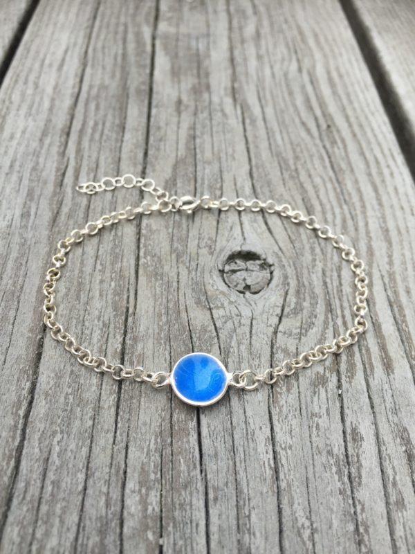 Embla boble armlenke himmelblå- 1494