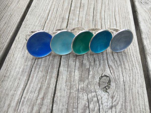 Embla boble ring himmelblå- 1495a