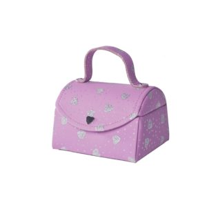 Smykkeskrin rosa m/hjerter- 31848