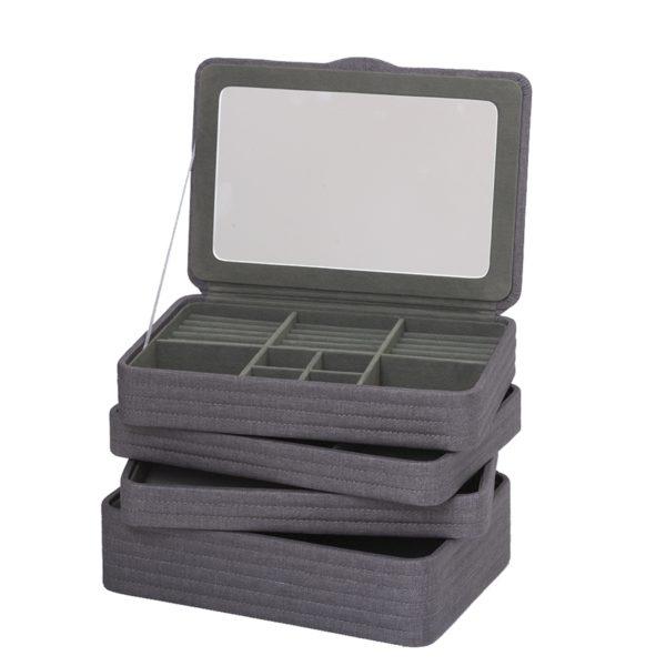 Smykkeskrin medium grå- 35164