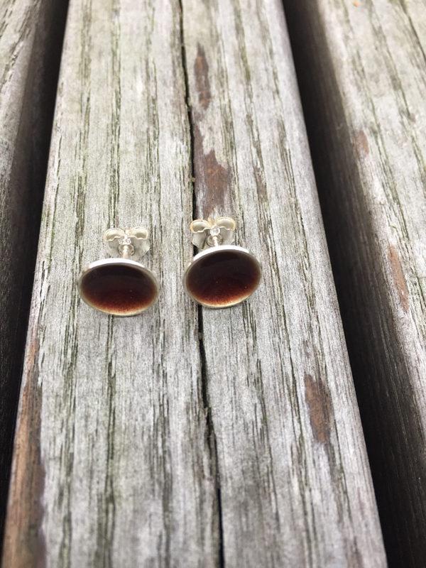 Embla boble ørepynt sjokoladebrun- 1272
