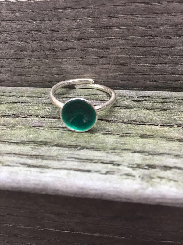 Embla boble ring mørk grønn 1495b