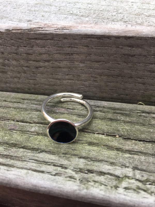 Embla boble ring sort- 1495b