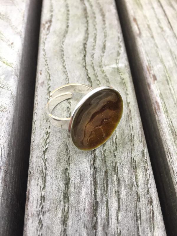 Embla boble ring sjokoladebrun- 1495a