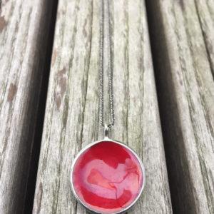 Embla boble anheng mørk rød- 1493a